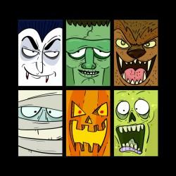 Tshirt monstres d'halloween