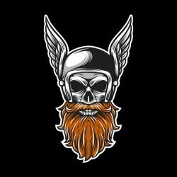 Tshirt skull biker