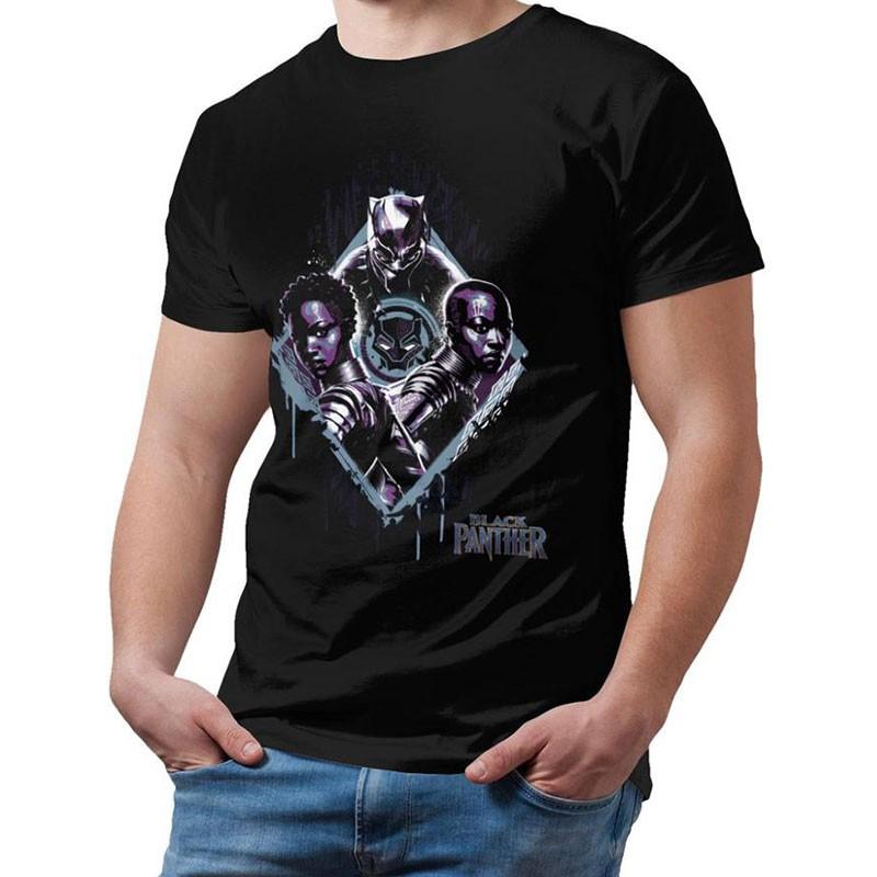 T shirt Black Panther
