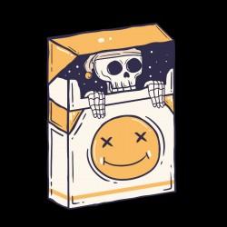 Tshirt skull cigarette