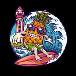Tshirt ananas surfing